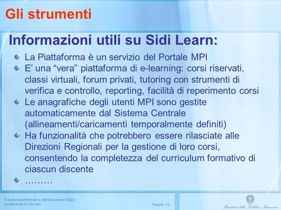 Informazioni utili su Sidi Learn: