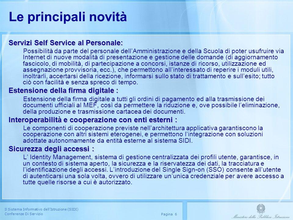 Le principali novità Servizi Self Service al Personale: