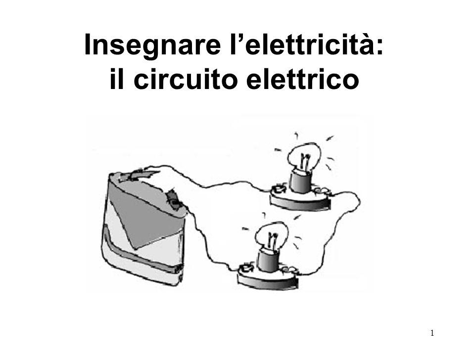 Insegnare l'elettricità: il circuito elettrico