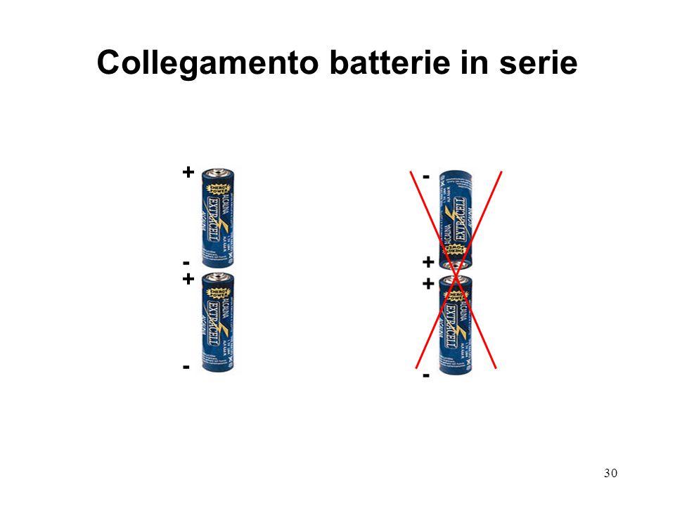 Collegamento batterie in serie