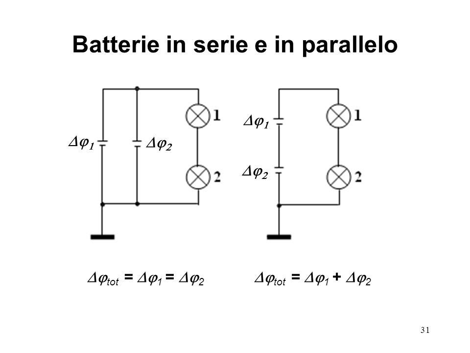 Batterie in serie e in parallelo