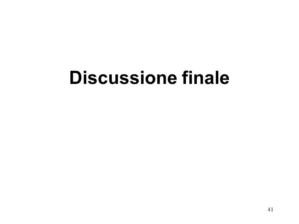 Discussione finale