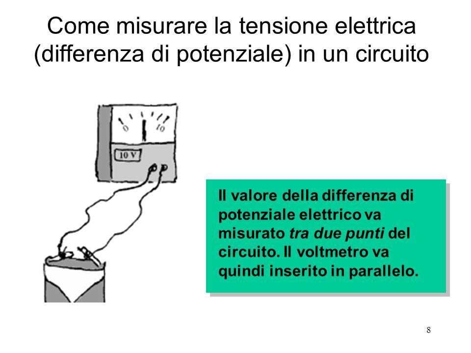 Come misurare la tensione elettrica (differenza di potenziale) in un circuito