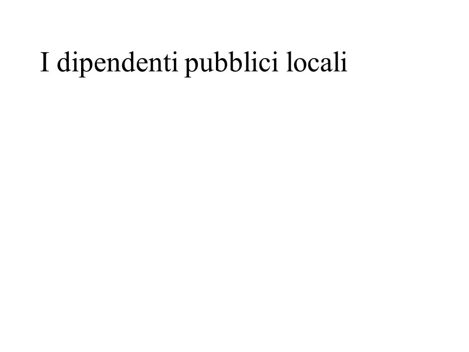 I dipendenti pubblici locali
