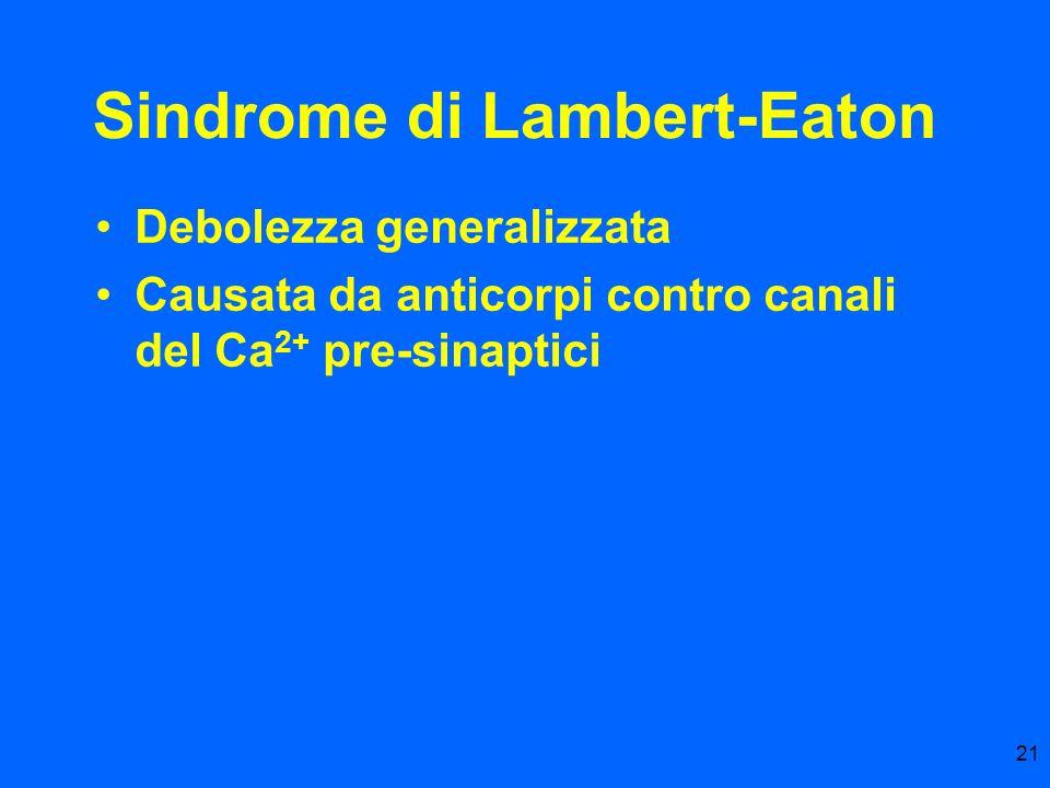 Sindrome di Lambert-Eaton