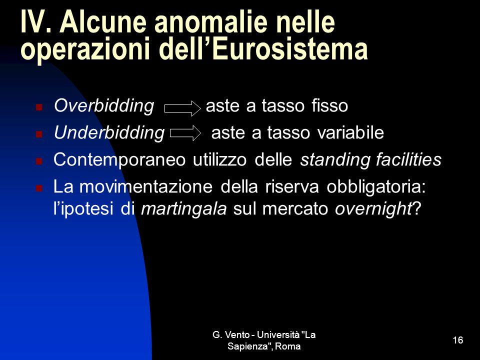 IV. Alcune anomalie nelle operazioni dell'Eurosistema