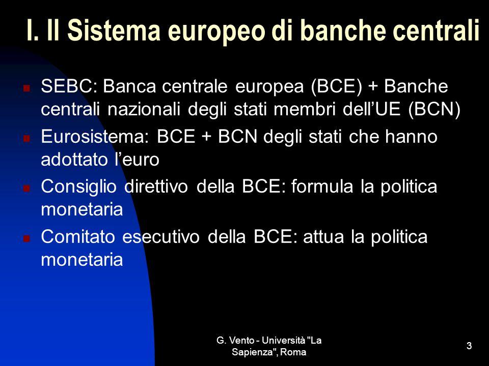 I. Il Sistema europeo di banche centrali