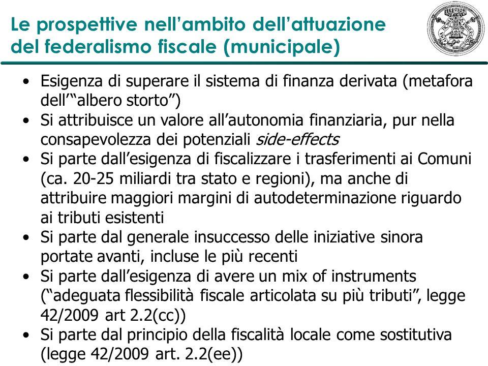Le prospettive nell'ambito dell'attuazione del federalismo fiscale (municipale)
