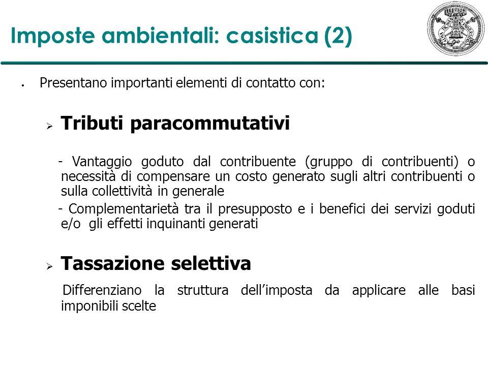 Imposte ambientali: casistica (2)
