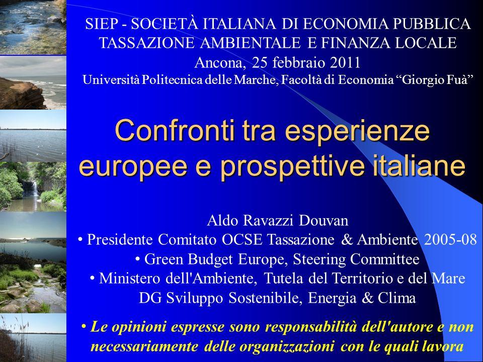 Confronti tra esperienze europee e prospettive italiane