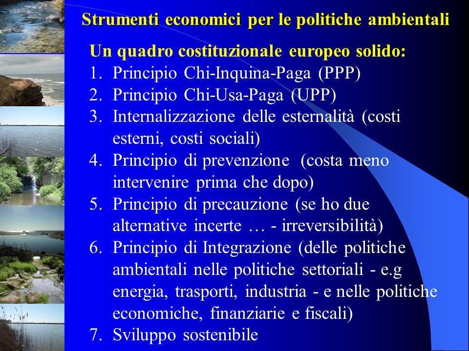 Strumenti economici per le politiche ambientali