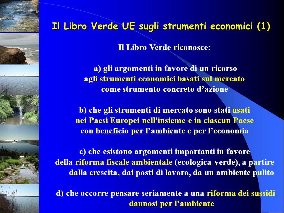 Il Libro Verde UE sugli strumenti economici (1)