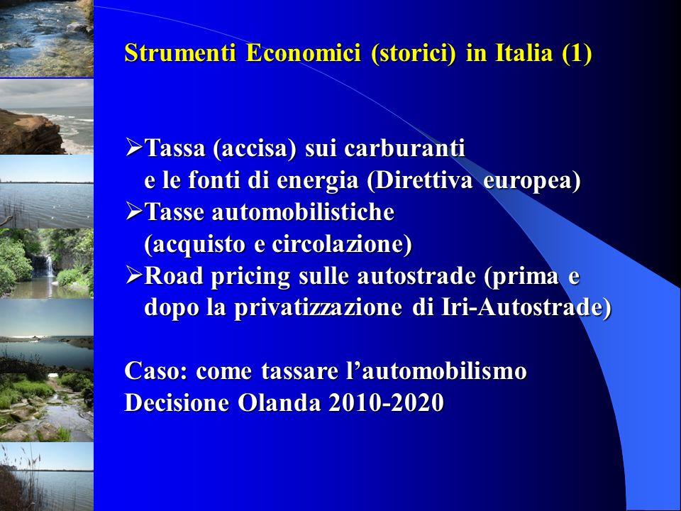 Strumenti Economici (storici) in Italia (1)