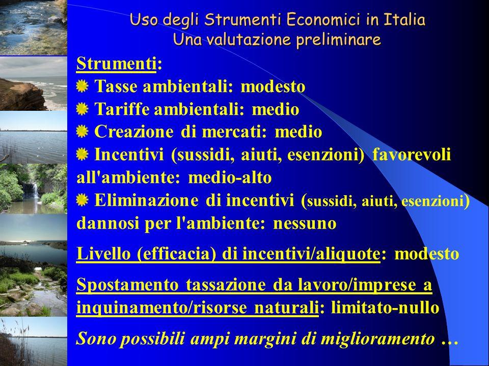 Uso degli Strumenti Economici in Italia Una valutazione preliminare