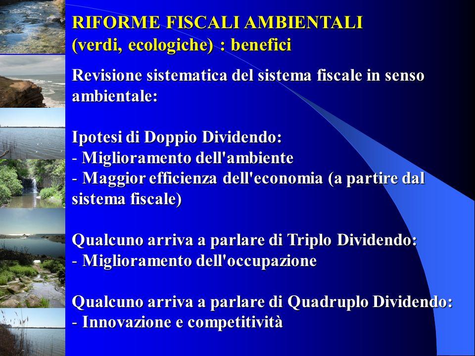 RIFORME FISCALI AMBIENTALI