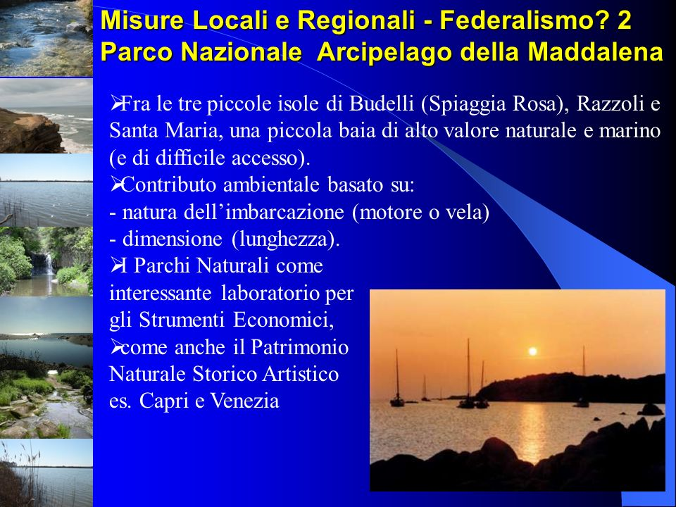Misure Locali e Regionali - Federalismo