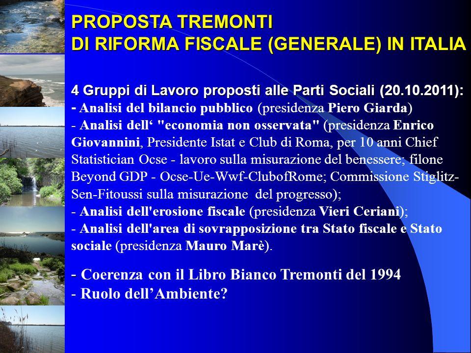 DI RIFORMA FISCALE (GENERALE) IN ITALIA