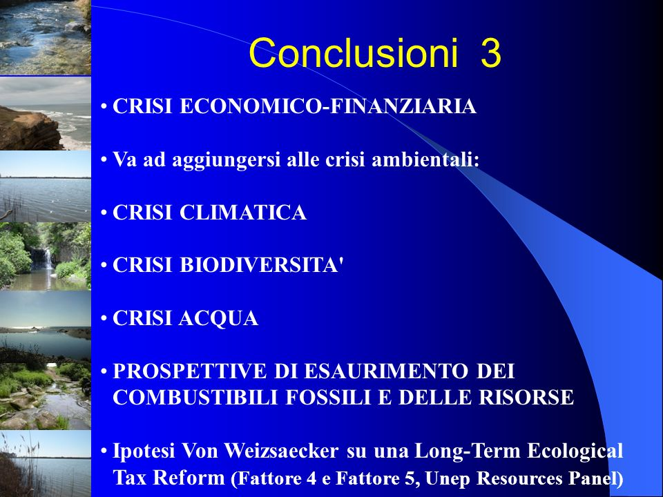 Conclusioni 3 CRISI ECONOMICO-FINANZIARIA