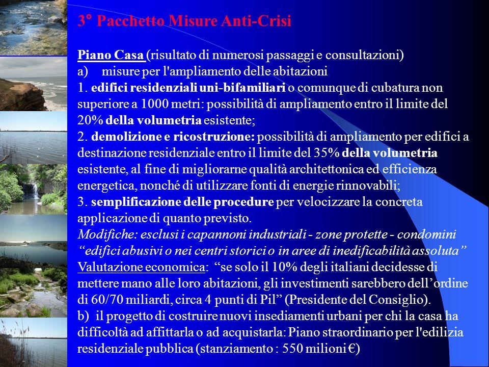 3° Pacchetto Misure Anti-Crisi