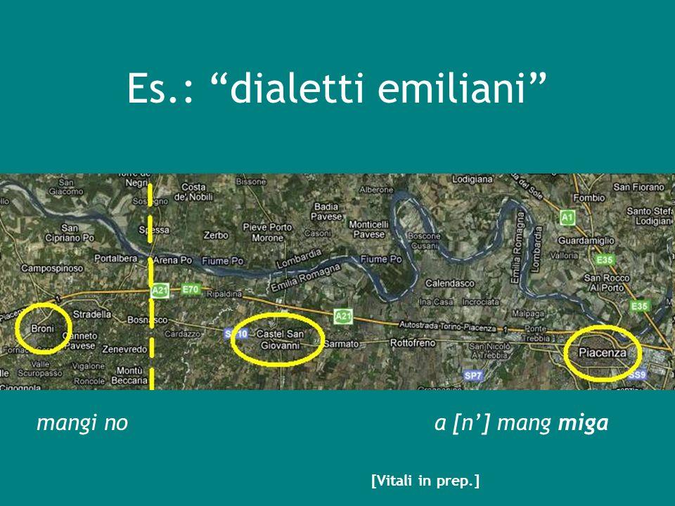 Es.: dialetti emiliani