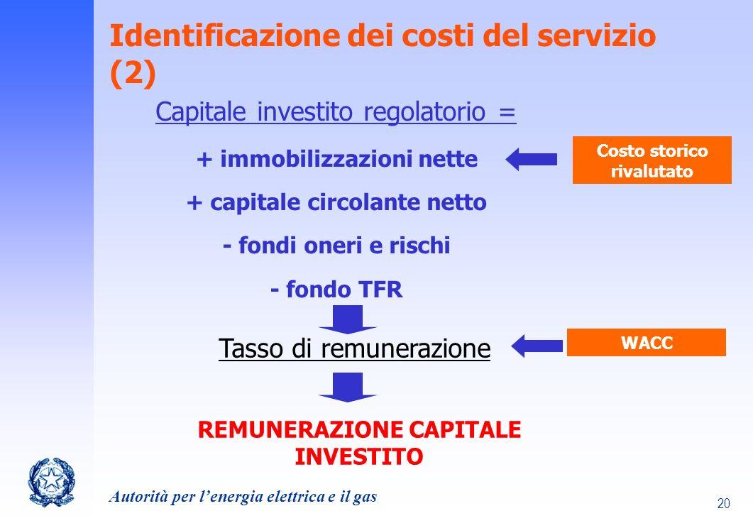 Identificazione dei costi del servizio (2)