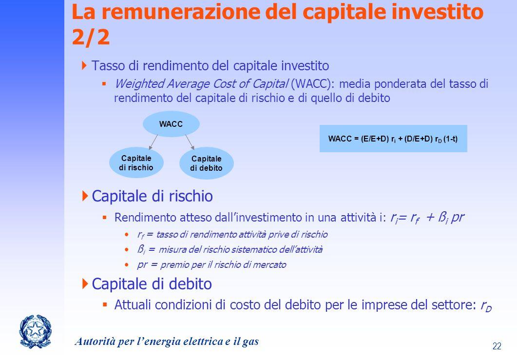 La remunerazione del capitale investito 2/2