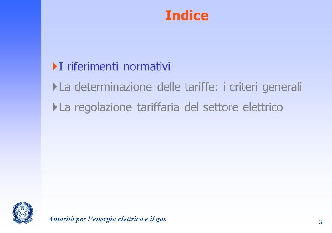Indice I riferimenti normativi