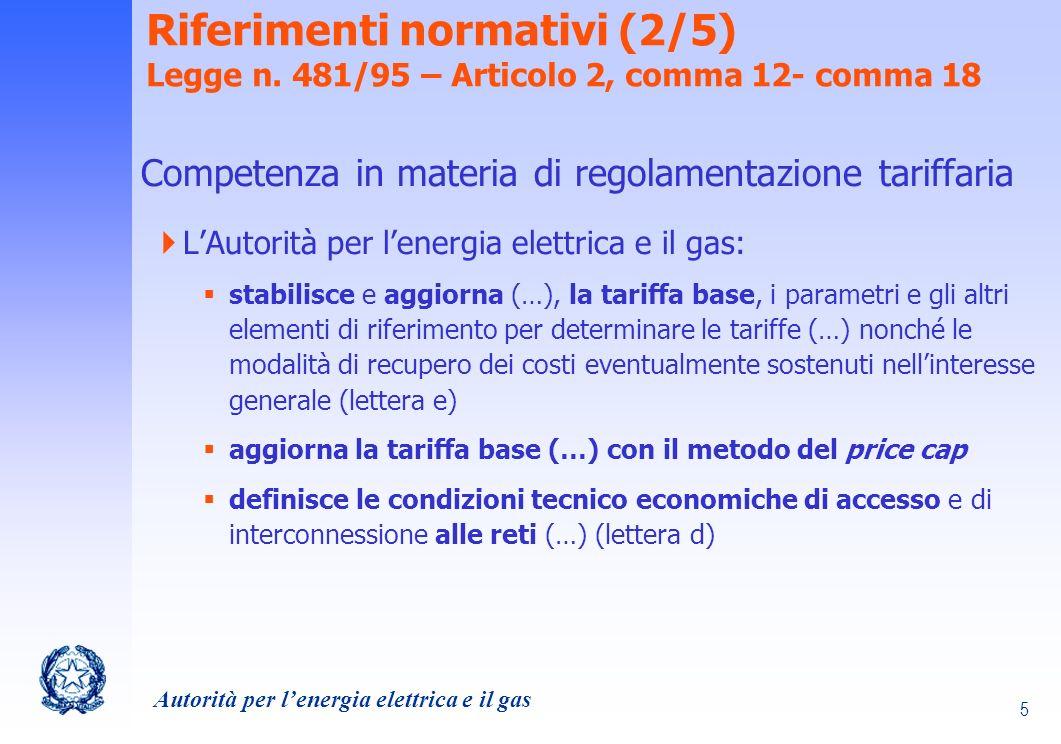 Riferimenti normativi (2/5) Legge n