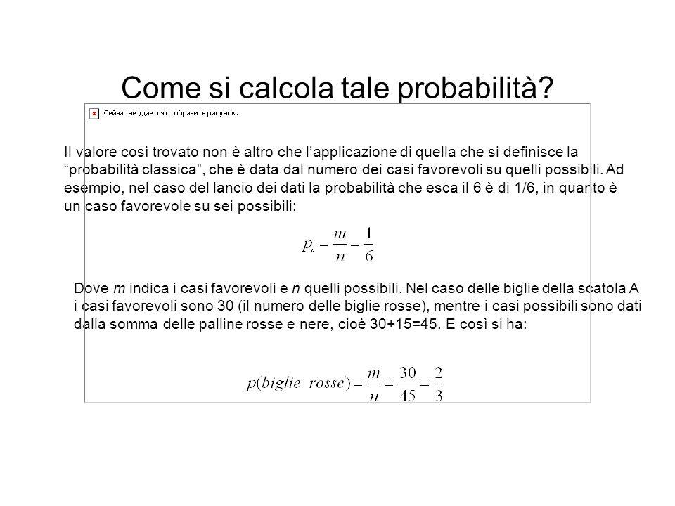 Come si calcola tale probabilità