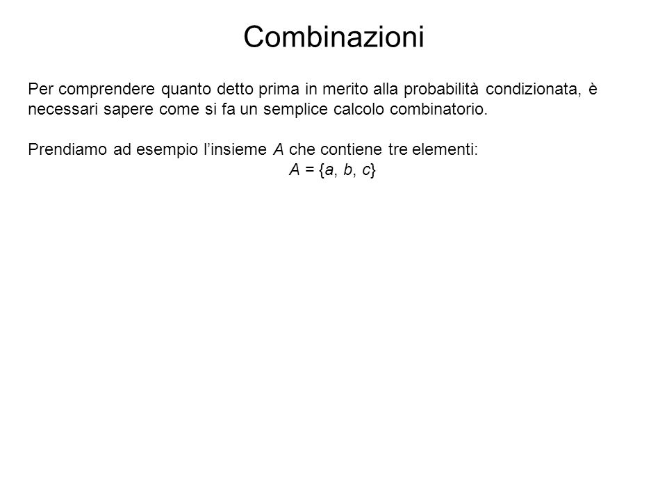 Combinazioni