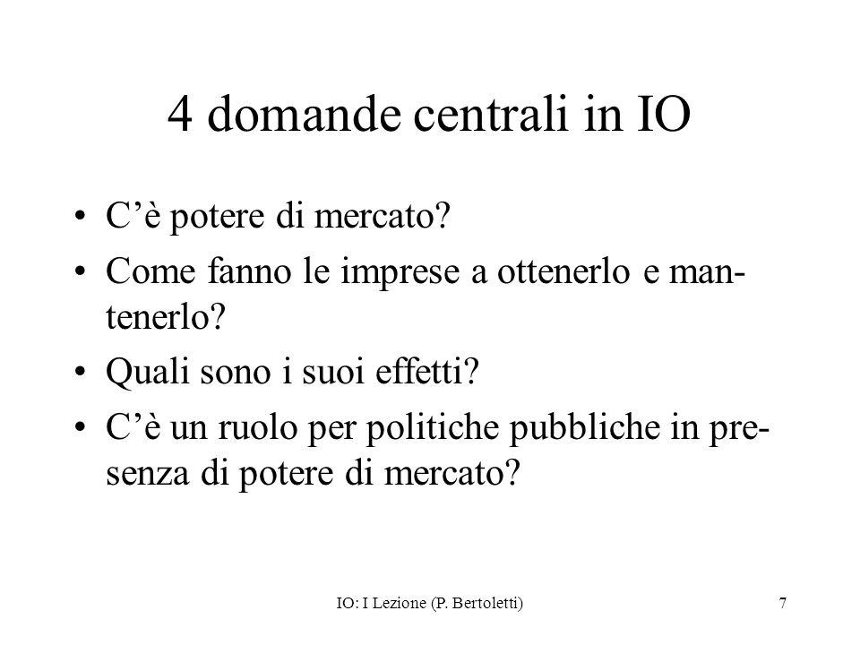IO: I Lezione (P. Bertoletti)