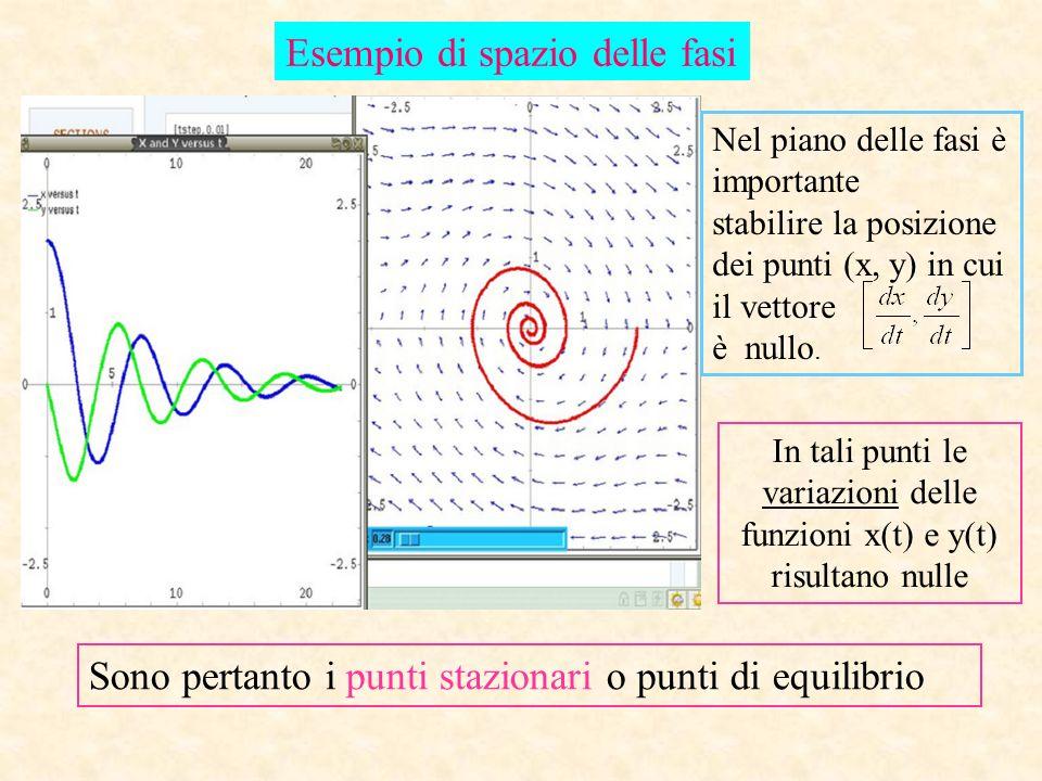 In tali punti le variazioni delle funzioni x(t) e y(t) risultano nulle