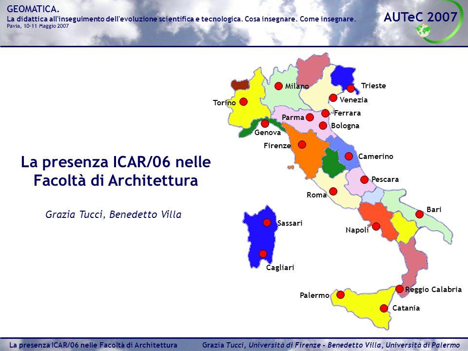 La presenza ICAR/06 nelle Facoltà di Architettura