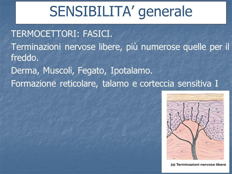 SENSIBILITA' generale