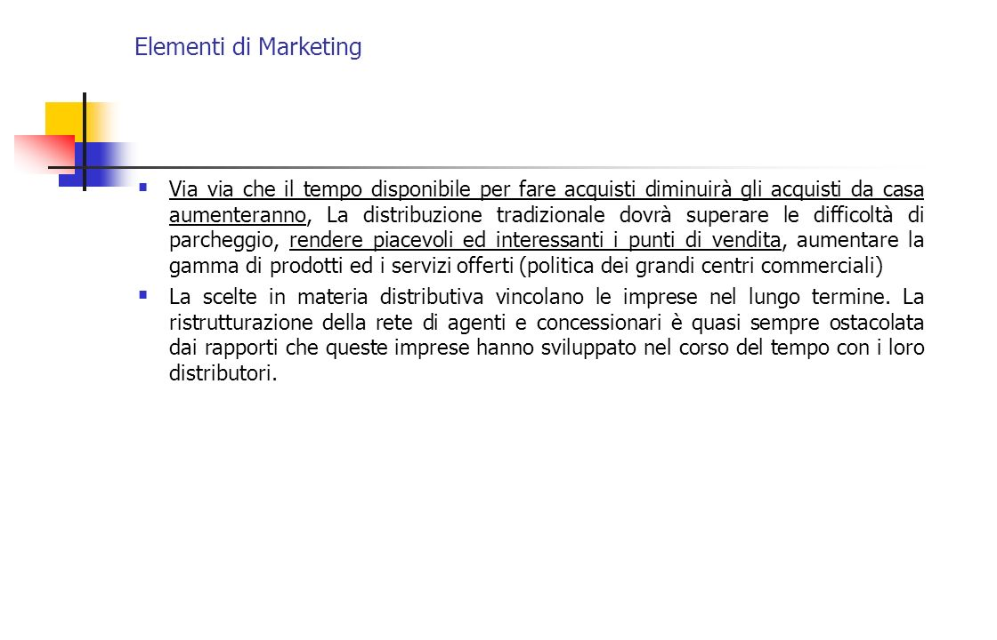 Elementi di Marketing