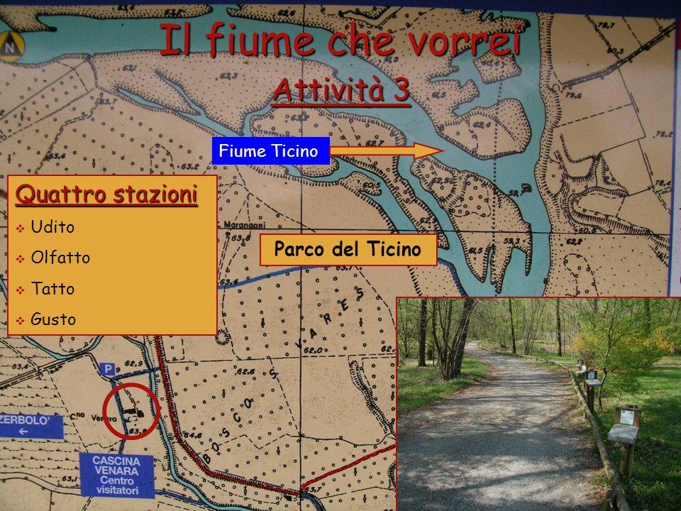 Il fiume che vorrei Attività 3 Quattro stazioni Parco del Ticino