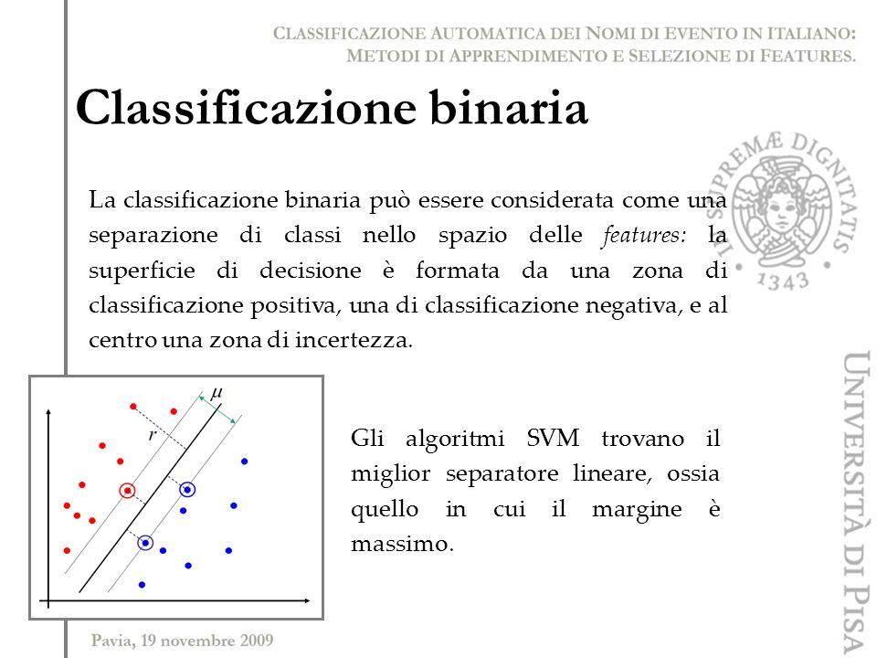 Classificazione binaria