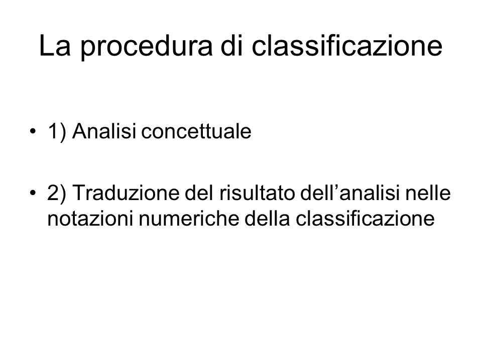 La procedura di classificazione
