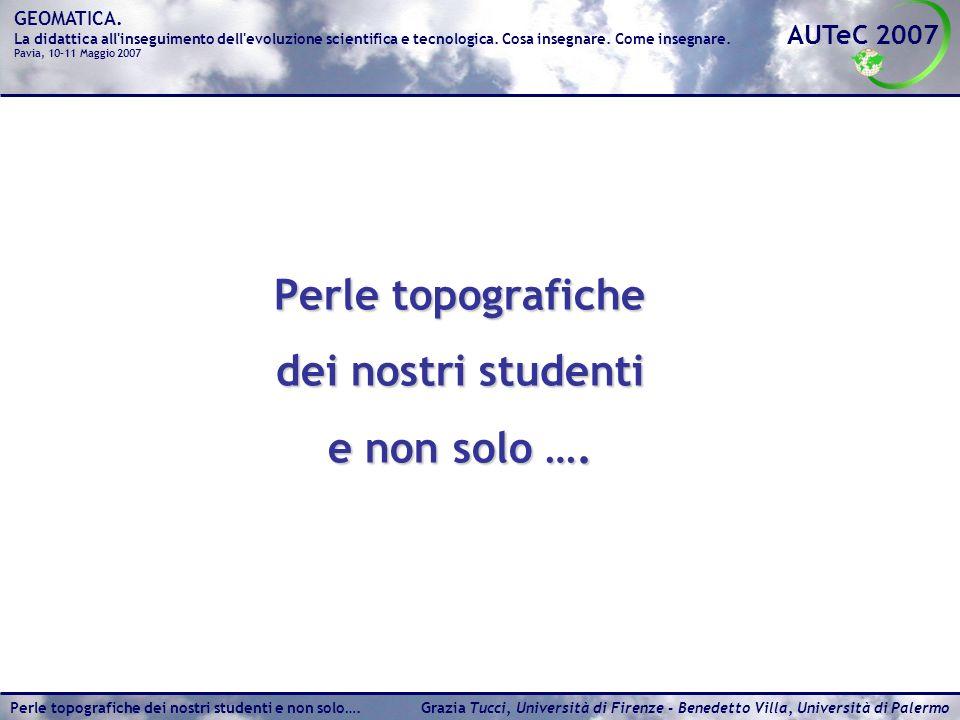 Perle topografiche dei nostri studenti e non solo ….