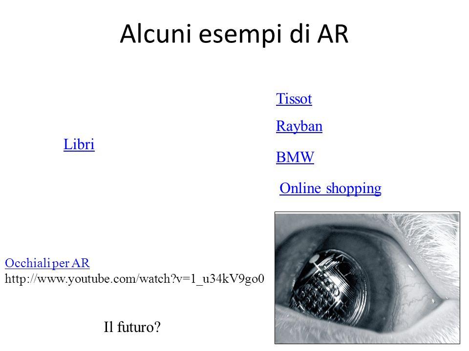 Alcuni esempi di AR Tissot Rayban Libri BMW Online shopping Il futuro