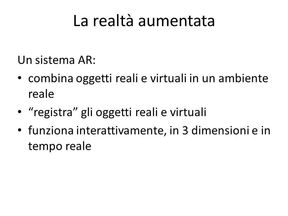 La realtà aumentata Un sistema AR: