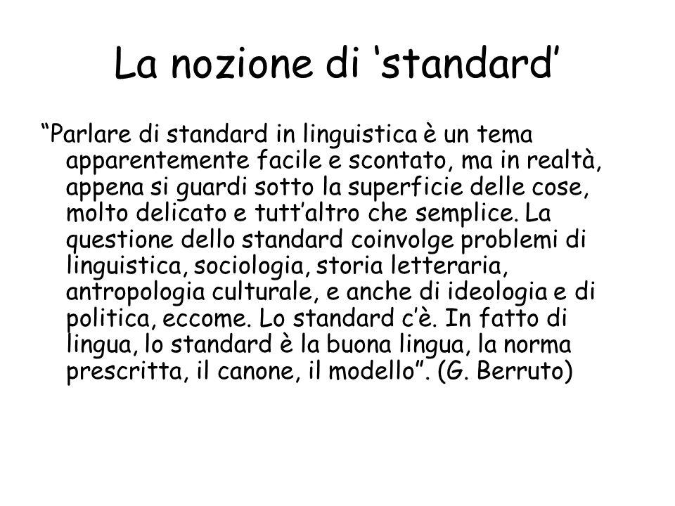 La nozione di 'standard'