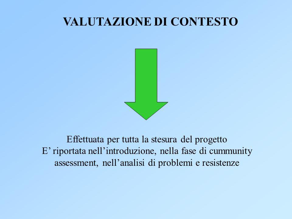 VALUTAZIONE DI CONTESTO