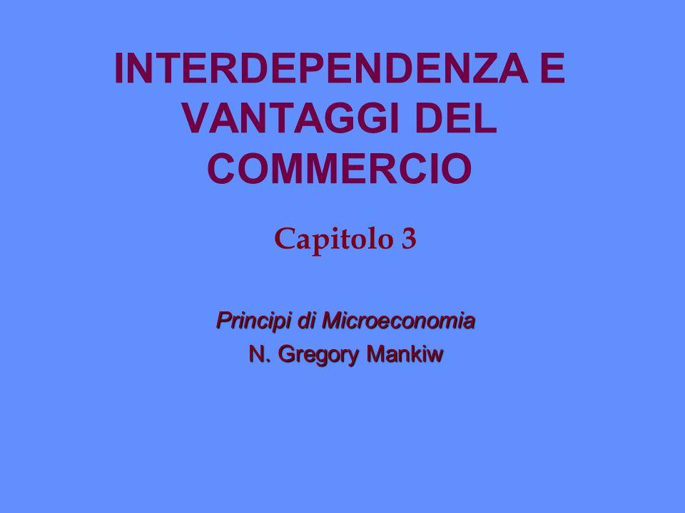 INTERDEPENDENZA E VANTAGGI DEL COMMERCIO