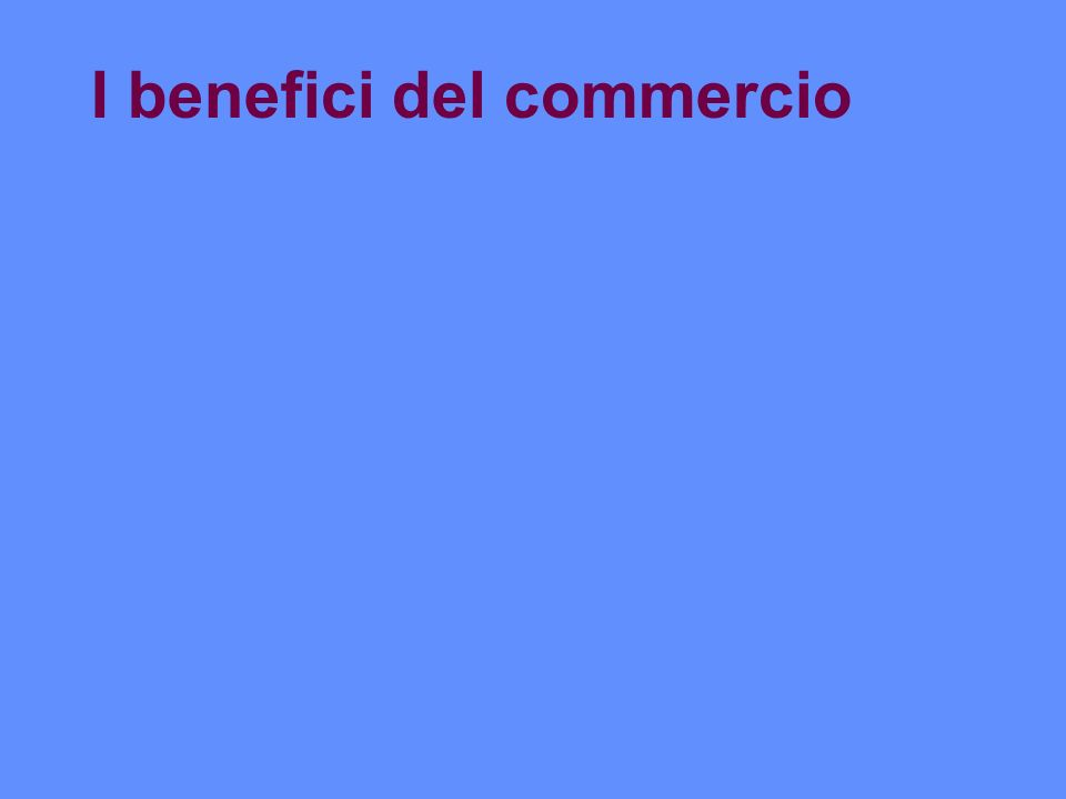 I benefici del commercio