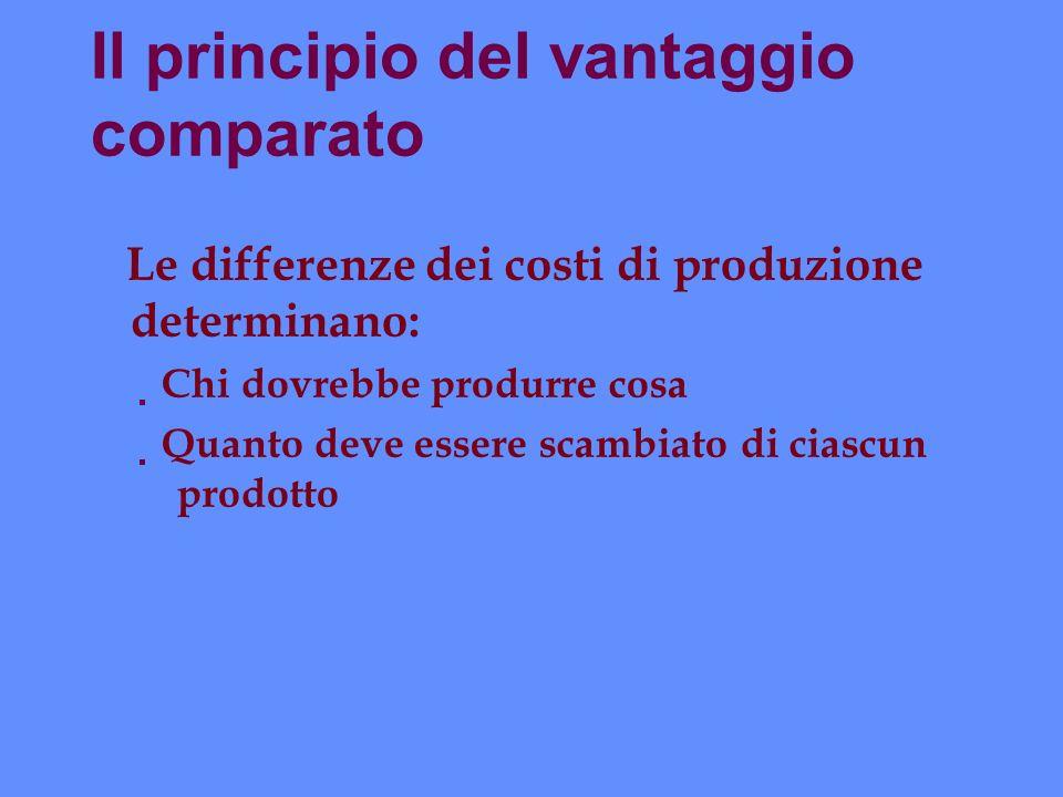 Il principio del vantaggio comparato