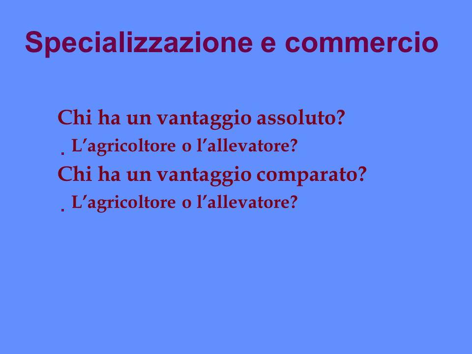 Specializzazione e commercio