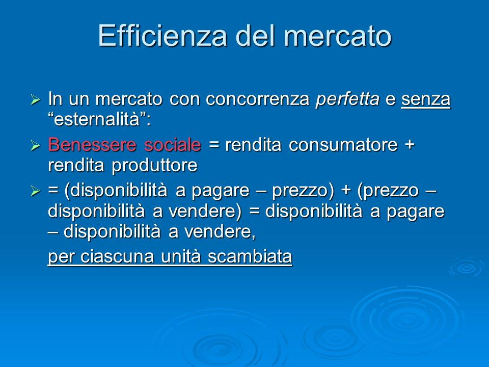 Efficienza del mercato