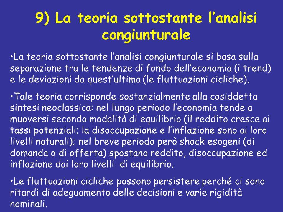 9) La teoria sottostante l'analisi congiunturale