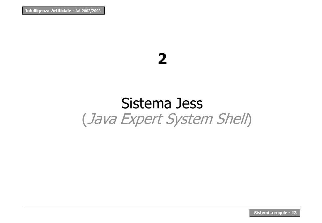Sistema Jess (Java Expert System Shell)